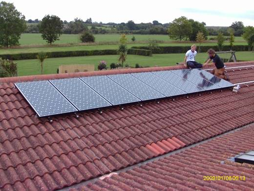 solar panel-Installation of 3.8 kW Sanyo HIT 240W system in Martock , Somerset