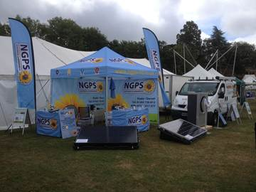Main content area-NGPS stand at Poole Town and Country Show.