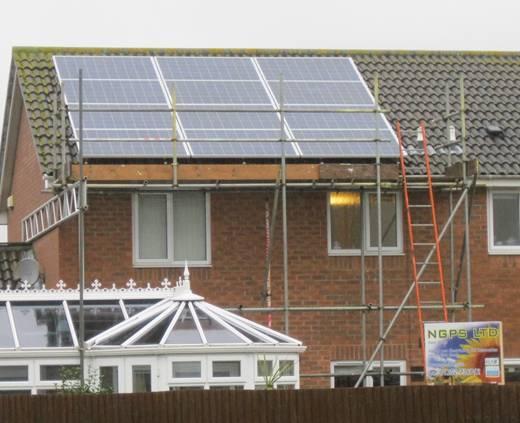 solar panel-A Moser Baer solar pv installation in Highcliffe, Dorset