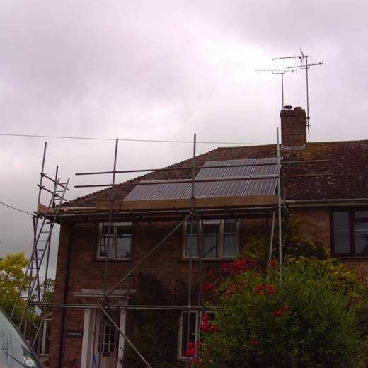 solar panel-A Sanyo PV System for Mrs Grinstead in Salisbury-1