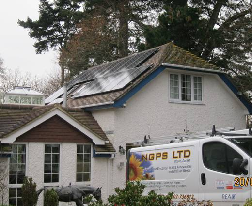 solar panel-A Sixteen Sanyo HIT240 watt Module system for Mr Mills, Lymington.