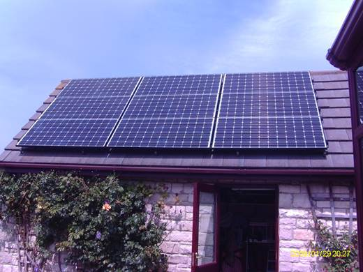 solar panel-A nine module Sanyo HIT 240 system for Mr and Mrs T. in Swanage