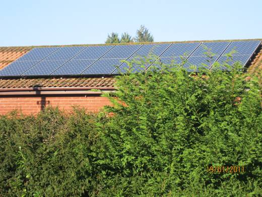 solar panel-A sixteen Sanyo HIT240 watt module system for Mrs Brown,  Crow Hill, Ringwood, Hampshire
