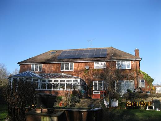 solar panel-Beecroft house Merley
