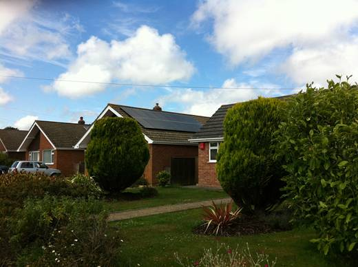 solar panel-Mr and Mrs C. in Hordle near Lymington