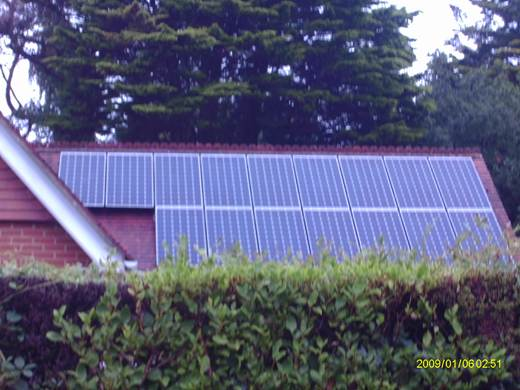solar panel-Mr and Mrs M near Canford Cliffs in Poole