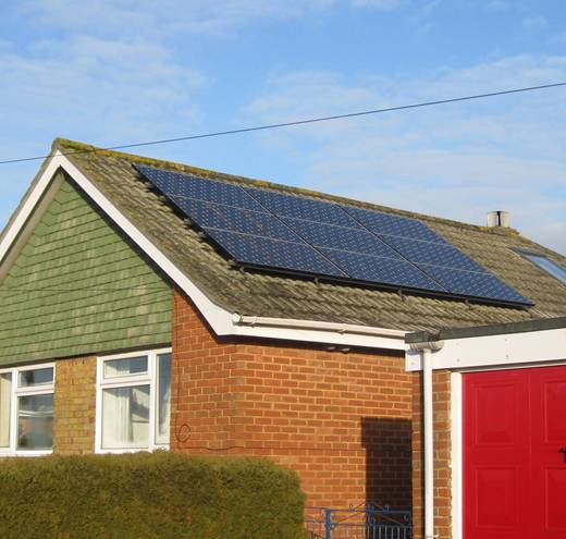 solar panel-PV system for Mr Hutchison, Sarisbury Green, Southampton