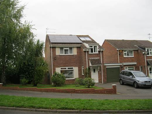 solar panel- Ten sanyo modules for Mr and Mrs A. in Merley